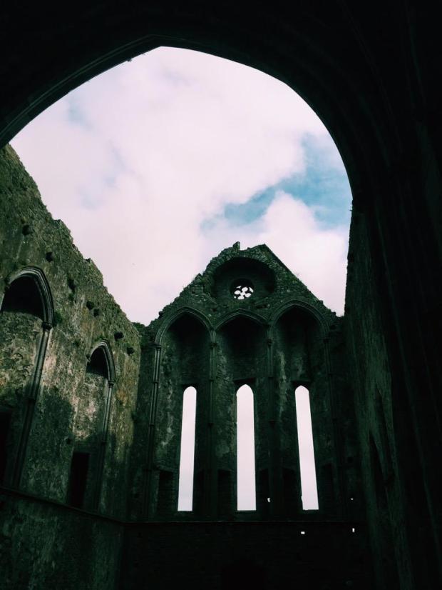 Inside the Rock of Cashel.