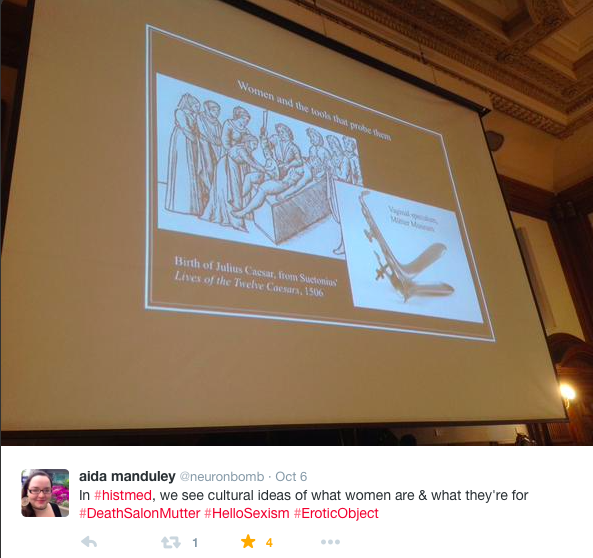 image courtesy of Aida Manduley, who live-tweeted during Dr. Hicks' presentation.